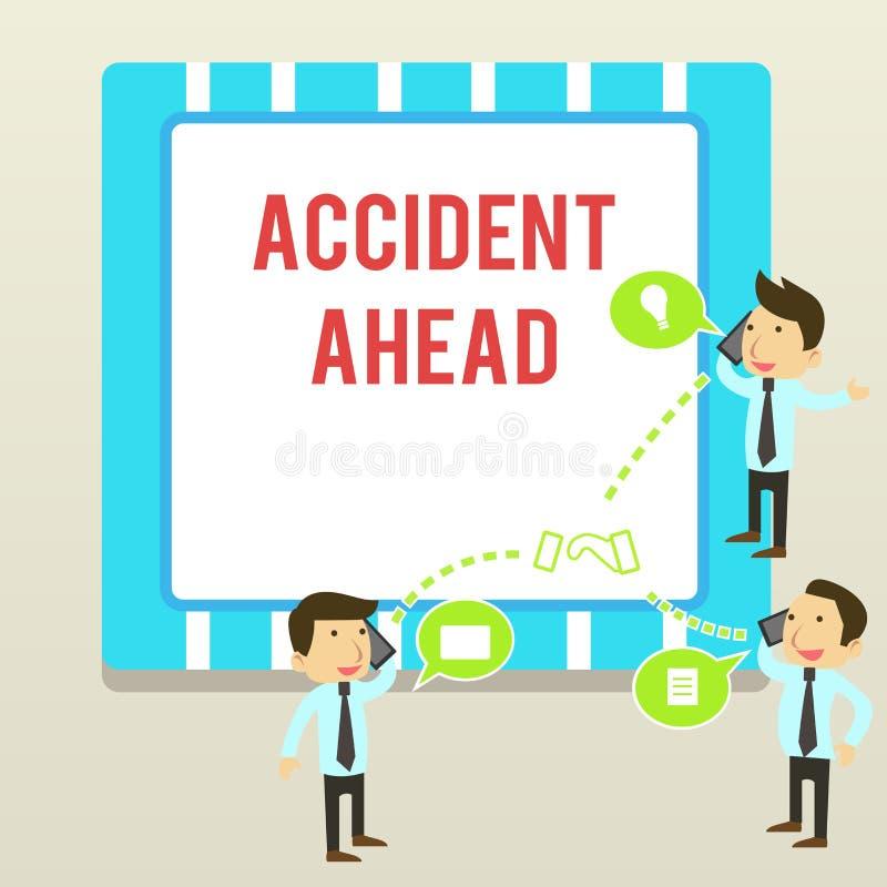 写前面文本事故的词 不幸的事件的企业概念是准备的改道避免尾板商人 皇族释放例证