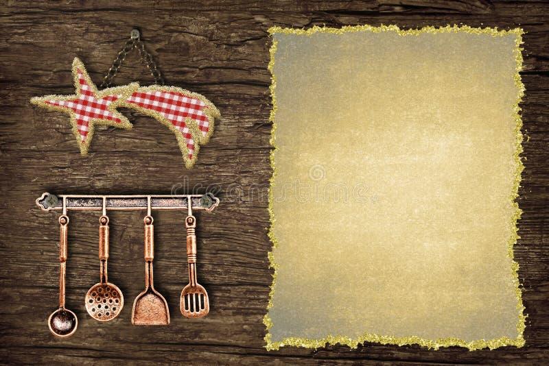 写圣诞节菜单的乐趣背景 库存图片