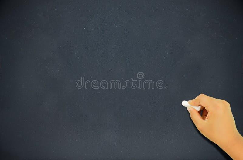写在黑板 免版税库存照片