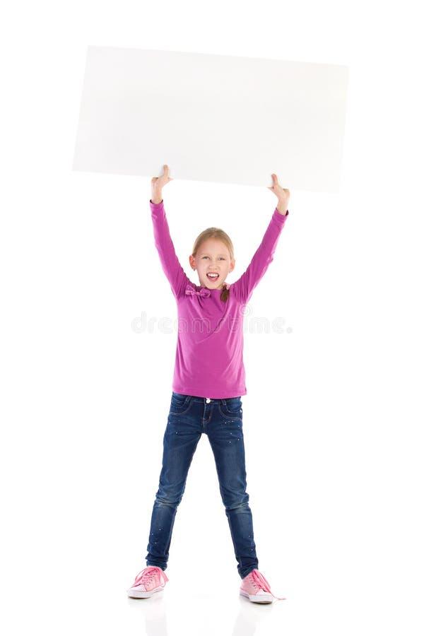写您的消息在白色横幅 免版税图库摄影