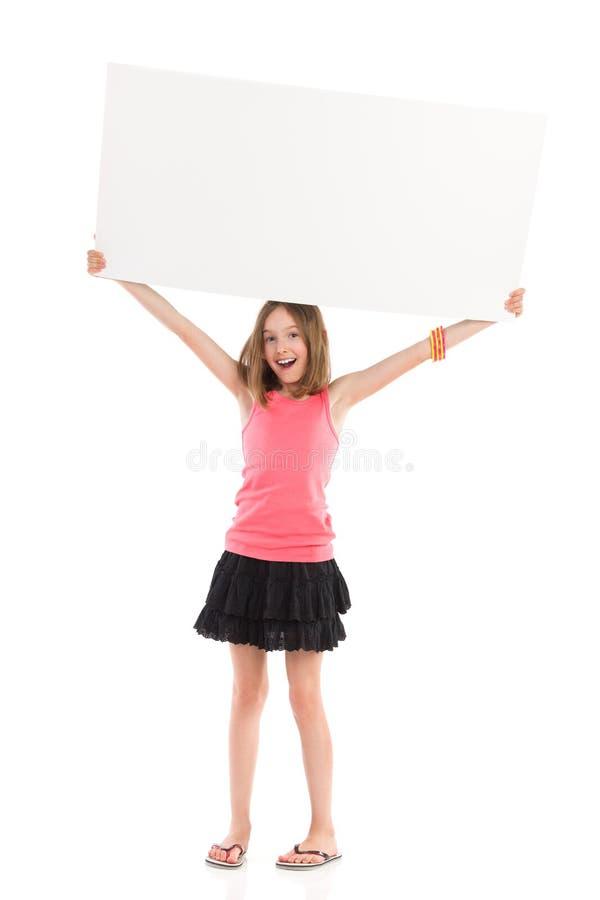 写您的消息在白色横幅 库存图片