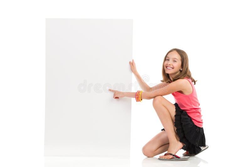 写您的消息在空白的横幅 库存照片
