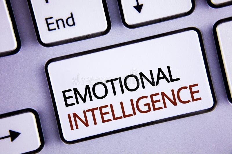 写情感智力的手写文本 概念意思能力控制和知道书面的个人情感  免版税库存图片