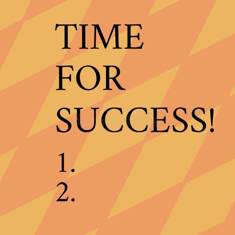 写成功的词文本时间 为得到专业奖励的企业概念在坚硬有效的工作以后 库存例证