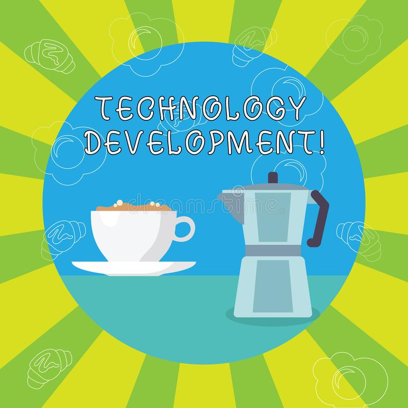 写技术开发的手写文本 意味任何东西的概念关于发明或创新白色 向量例证