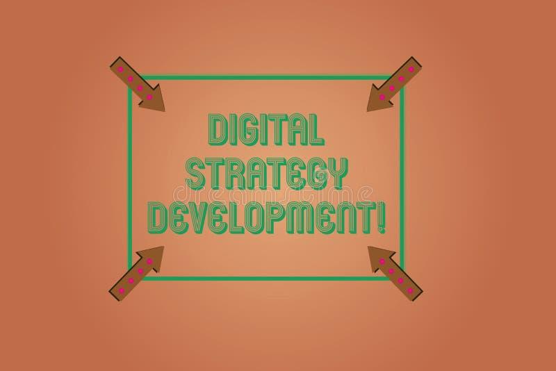 写数字战略发展的手写文本 最大化企业好处财产的概念意思摆正 向量例证