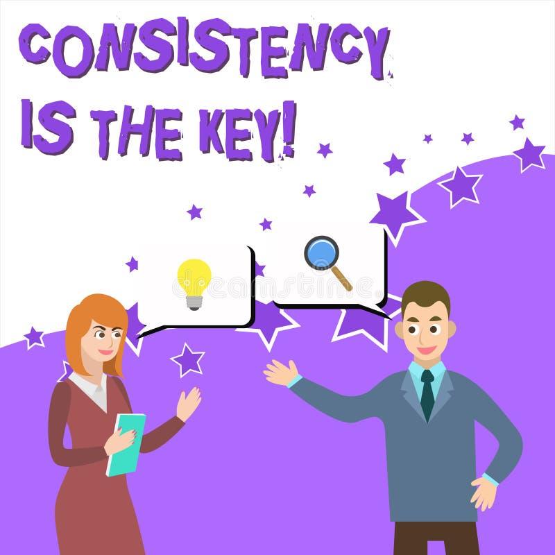 写文本一贯性的词是钥匙 通过改变恶习和形成的好那些企业概念事务 皇族释放例证