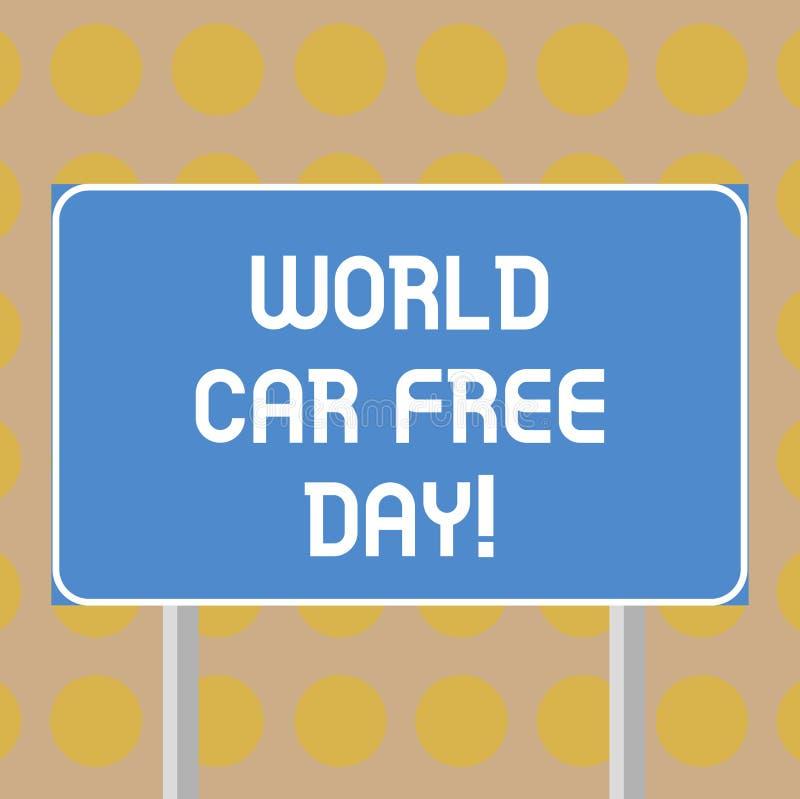 写文本世界汽车自由天的词 环境保护竞选的企业概念避免污染空白 库存例证