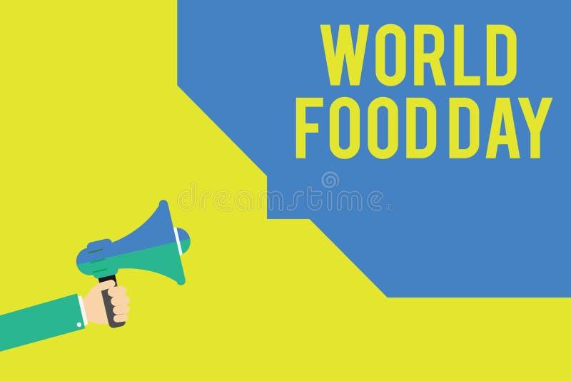 写文本世界粮食日的词 企业概念为世界天行动致力应付全球性饥饿 皇族释放例证