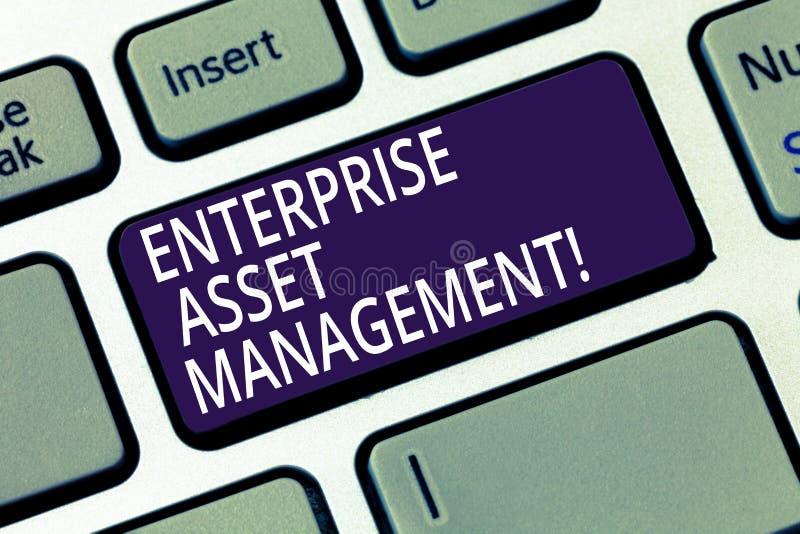 写文本企业财产管理的词 analysisaging的实物资产的生命周期企业概念 免版税库存图片