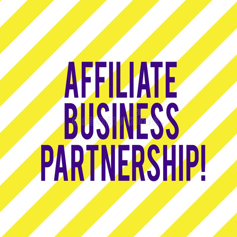 写文本会员企业合作的词 公司间的关系的企业概念能促进产品对角线 库存照片