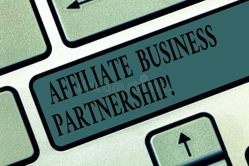 写文本会员企业合作的词 公司间的关系的企业概念能宣传产品 免版税图库摄影