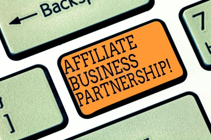 写文本会员企业合作的词 公司间的关系的企业概念能宣传产品 库存照片