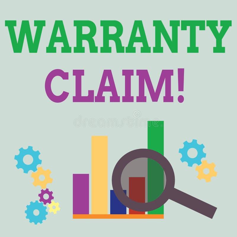 写文本保单要求的词 一名顾客的权利的企业概念替换的或修理或者报偿 皇族释放例证