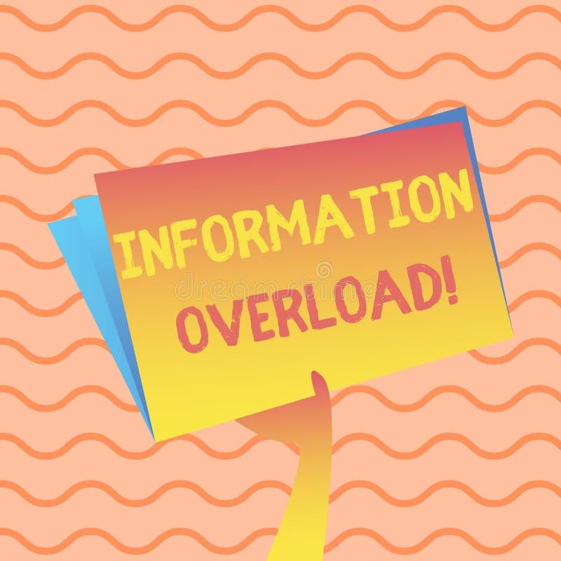 写文本信息超载的词 许多只信息手暴露对或供应的企业概念  库存例证