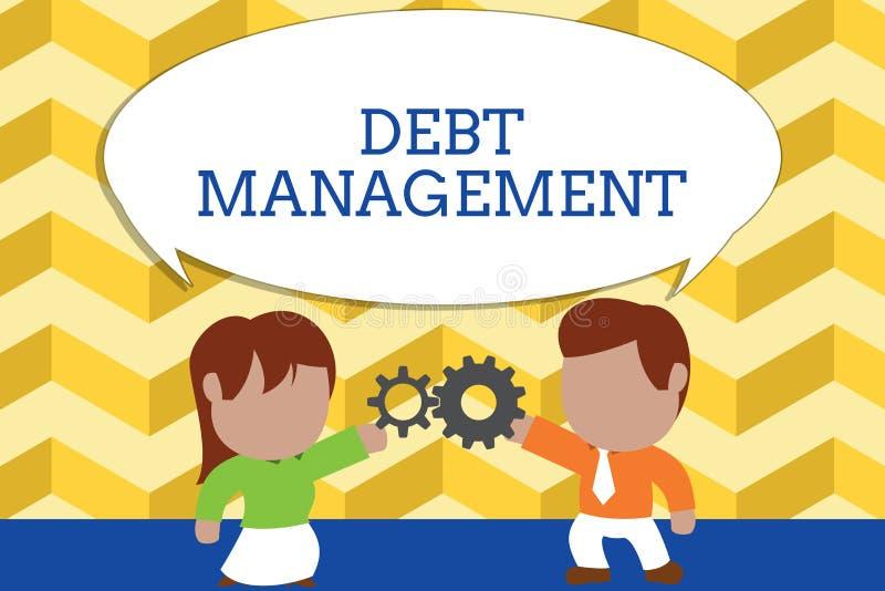 写文本债务管理的词 正式协议的企业概念在债家和债权人身分之间 库存例证