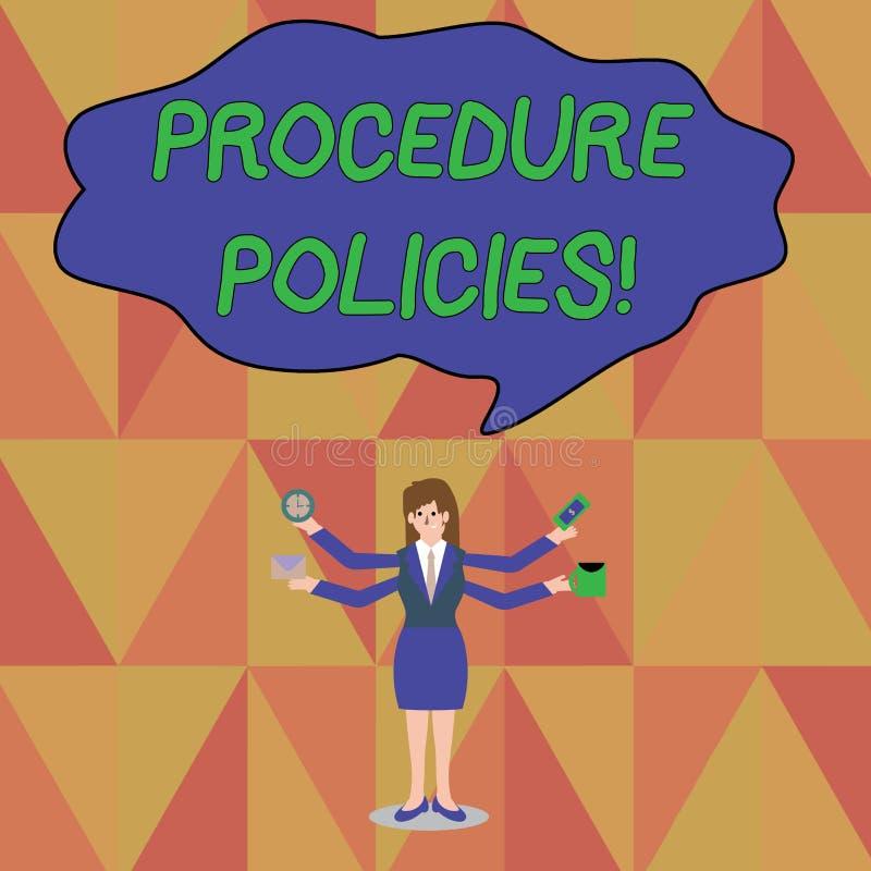 写文本做法政策的词 步的企业概念对指导原则条例 向量例证