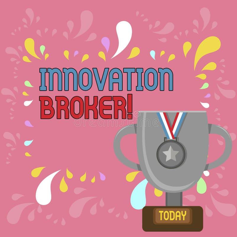 写文本创新经纪的词 辨认的帮助的企业概念能动员创新和机会战利品 库存例证