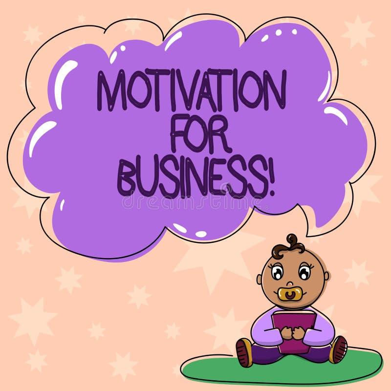 写文本刺激的词为事务 欲望和能量的企业概念不断地承诺给工作婴孩坐 皇族释放例证