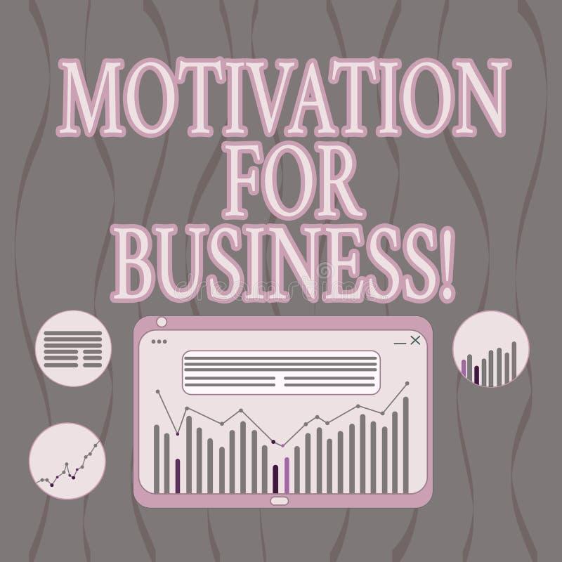 写文本刺激的词为事务 欲望和能量的企业概念不断地承诺给工作 向量例证