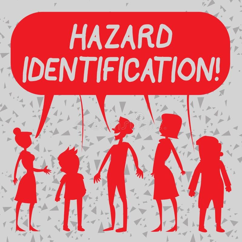 写文本危险证明的词 过程的企业概念用于辨认危险在工作场所 向量例证