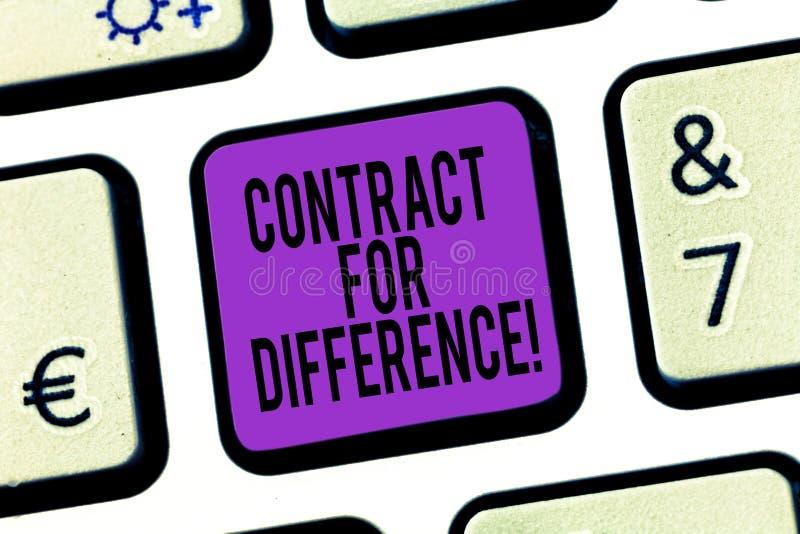 写文本合同的词为区别 合同的企业概念在投资者和投资银行之间 库存图片
