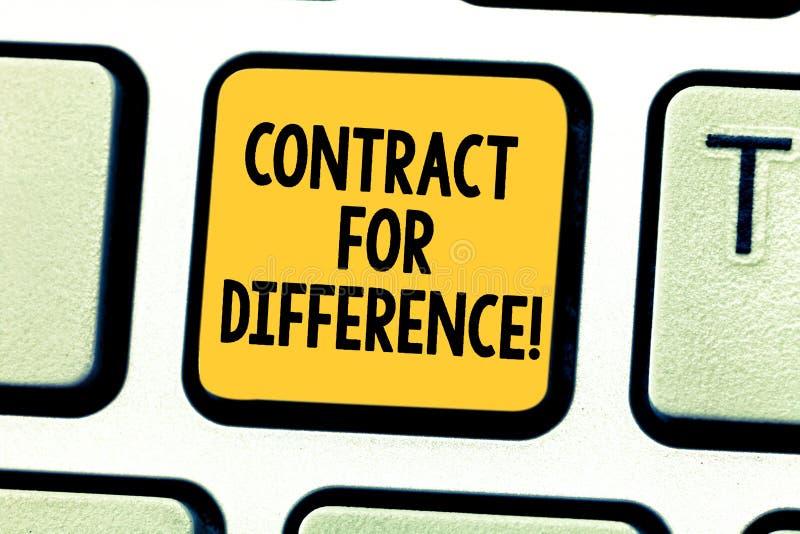 写文本合同的词为区别 合同的企业概念在投资者和投资银行之间 免版税库存照片