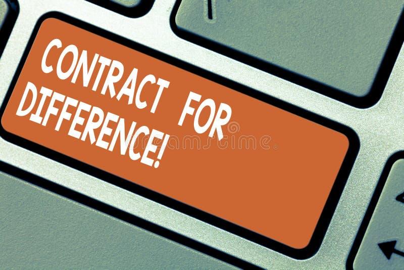 写文本合同的词为区别 合同的企业概念在投资者和投资银行之间 免版税图库摄影