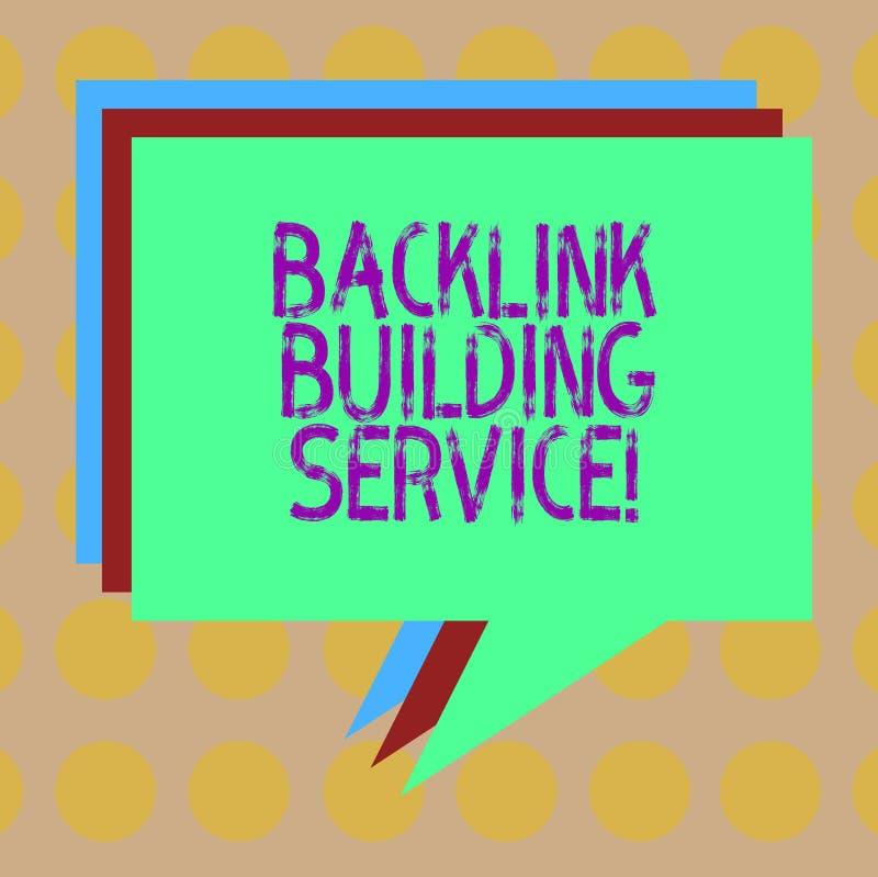 写文本后面链接修造的服务的词 增量后面链接的企业概念通过交换链接与其他堆 向量例证