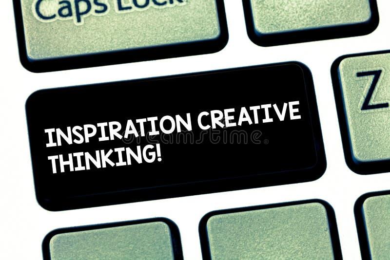 写文本启发创造性思为的词 能力的企业概念能产生新和新的想法 免版税库存图片