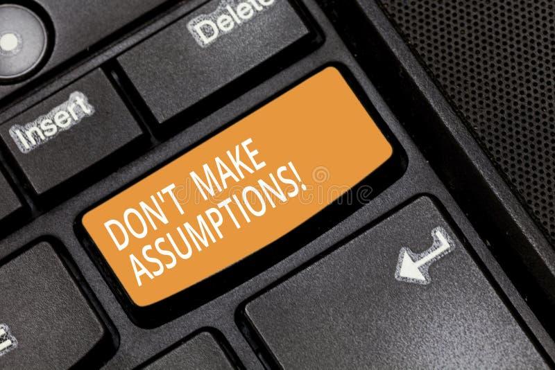 写文本唐T的词做假定 企业概念为不接受某事是真实的没有证明键盘 库存图片