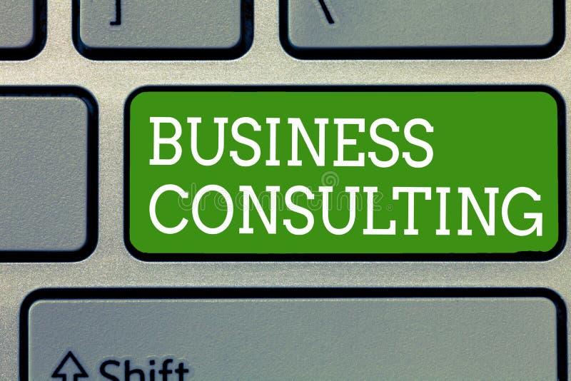 写文本商务咨询的词 学术理论专门技术混合实践的企业概念  图库摄影