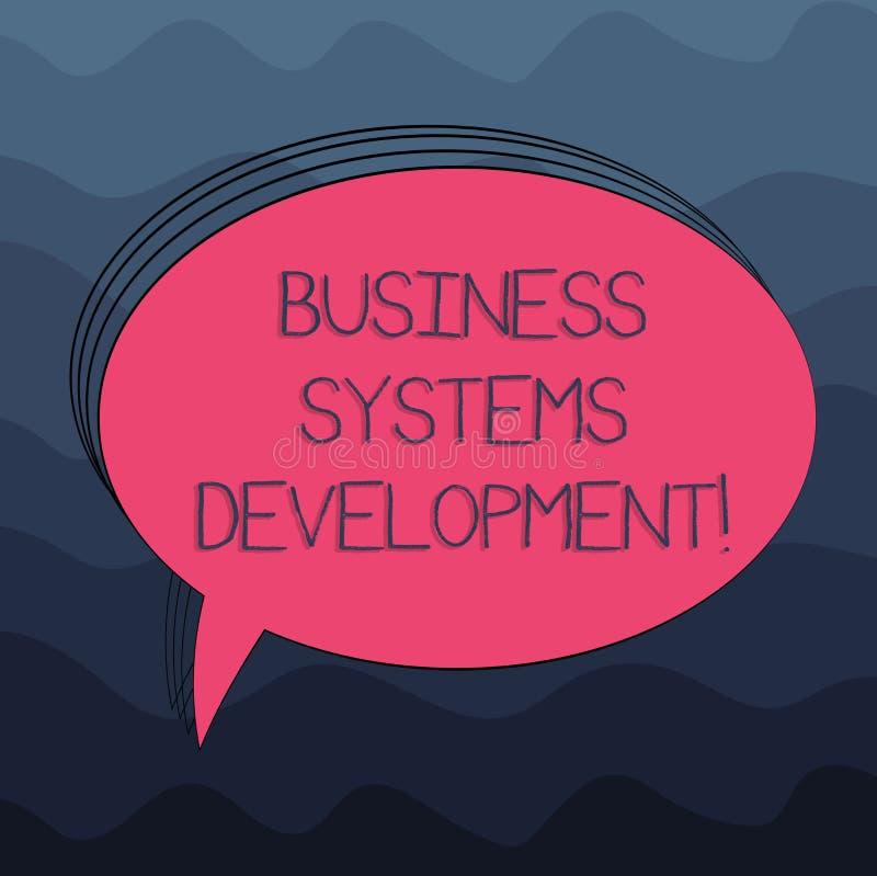 写文本商务系统发展的词 定义和开发系统空白的过程的企业概念 皇族释放例证