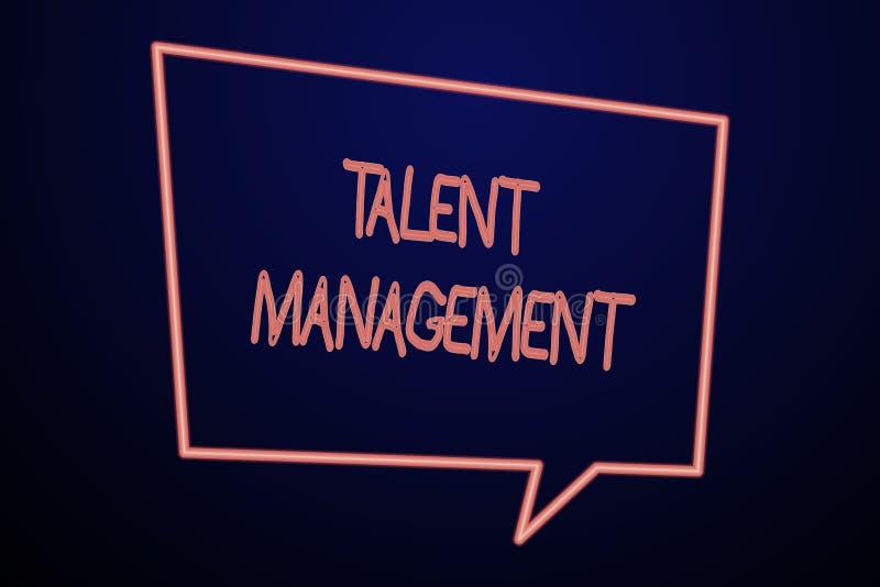 写文本天分管理的词 获取的空聘用的和保留的有天才的雇员企业概念 库存例证