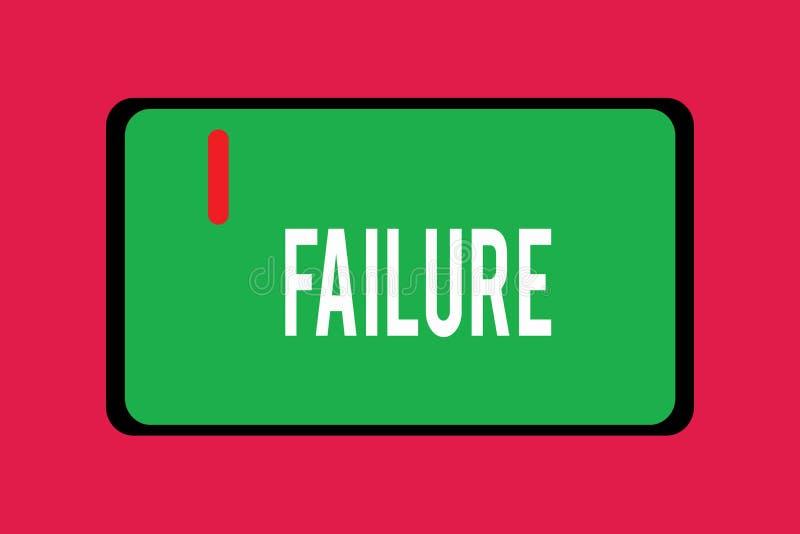 写文本失败的词 忽视或遗漏的企业概念期待必需的行动缺乏成功 向量例证