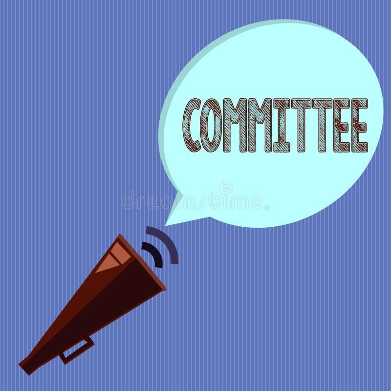 写文本委员会的词 为一个特定功能公司配合显示任命的小组的企业概念 库存例证