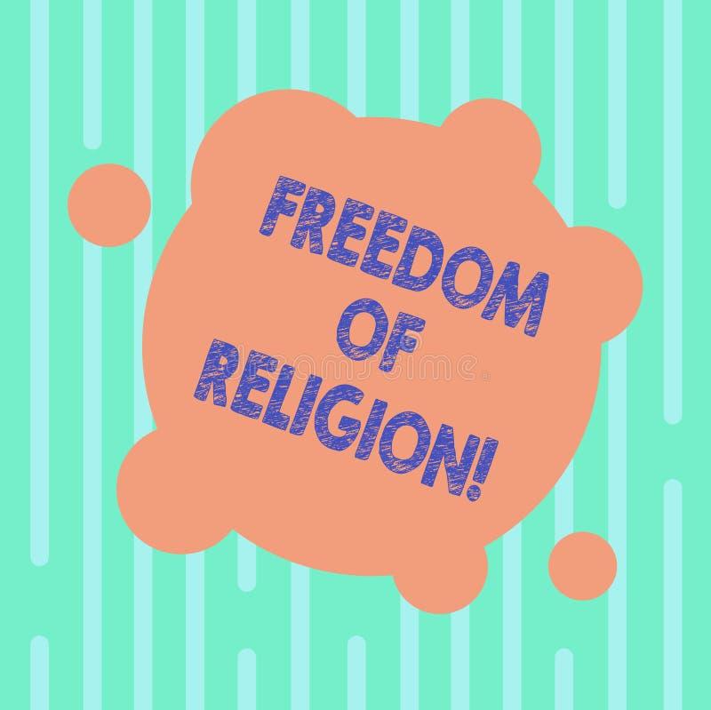 写文本宗教信仰自由的词 权利的企业概念能奉行任何宗教一选择空白 库存例证