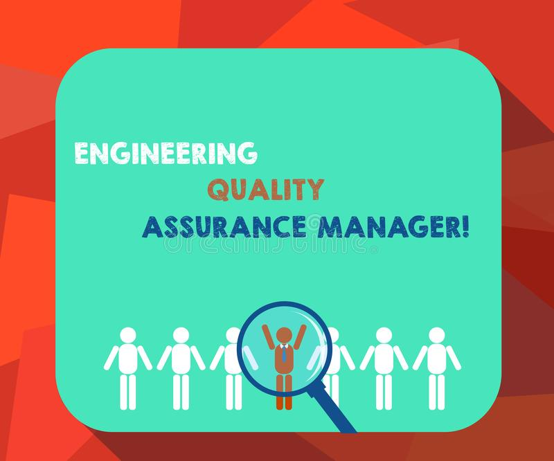 写文本工程学质量管理经理的词 评估产量控制放大镜的企业概念 皇族释放例证
