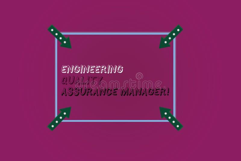 写文本工程学质量管理经理的词 评估产量控制正方形的企业概念 皇族释放例证