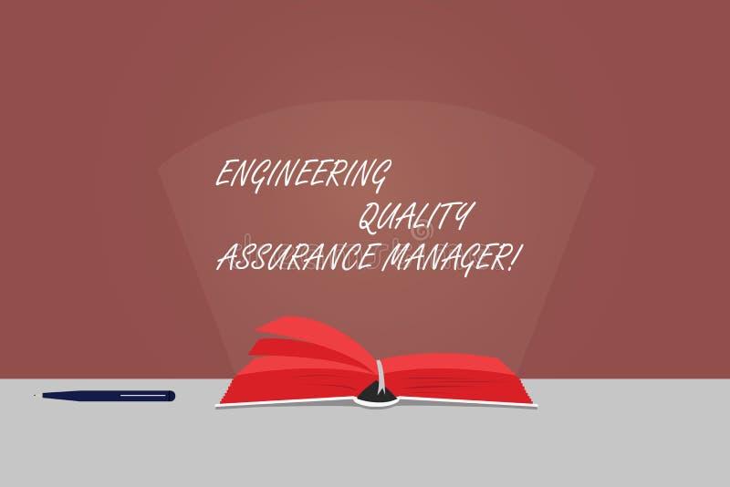 写文本工程学质量管理经理的词 评估产量控制颜色页的企业概念 向量例证