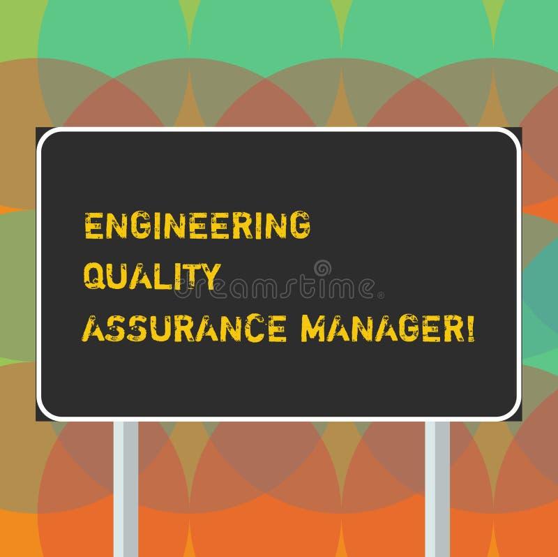 写文本工程学质量管理经理的词 评估长方形产量控制的空白的企业概念 向量例证