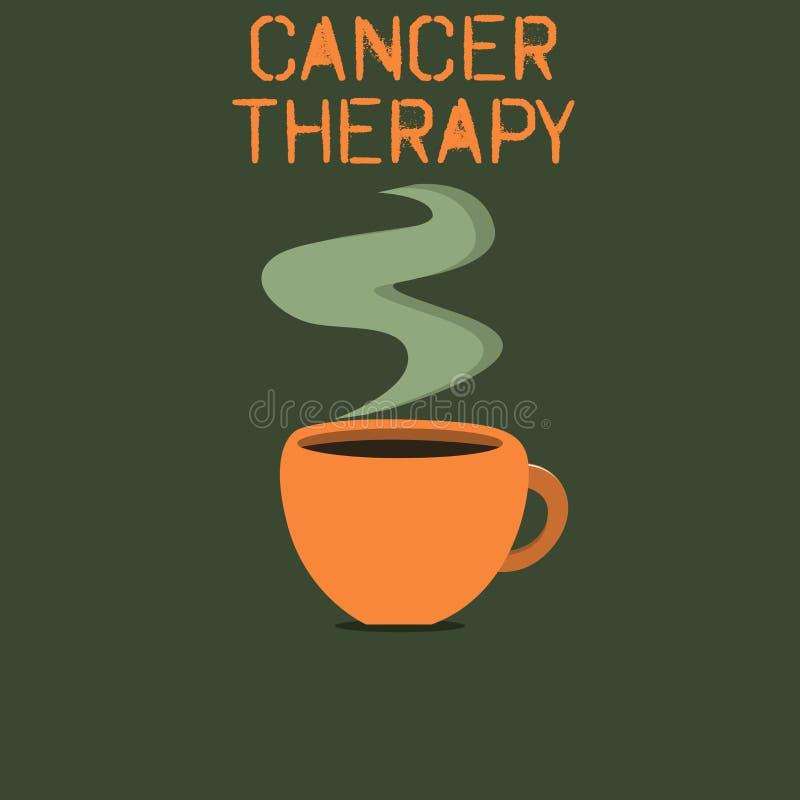 写文本巨蟹星座疗法的词 癌症的治疗的企业概念在一名病人的有手术化疗 皇族释放例证