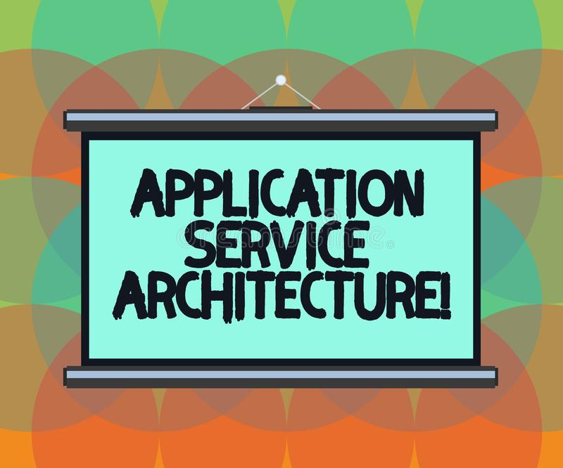写文本应用服务建筑学的词 连接应用程序和数据空白解答的设计的企业概念  皇族释放例证
