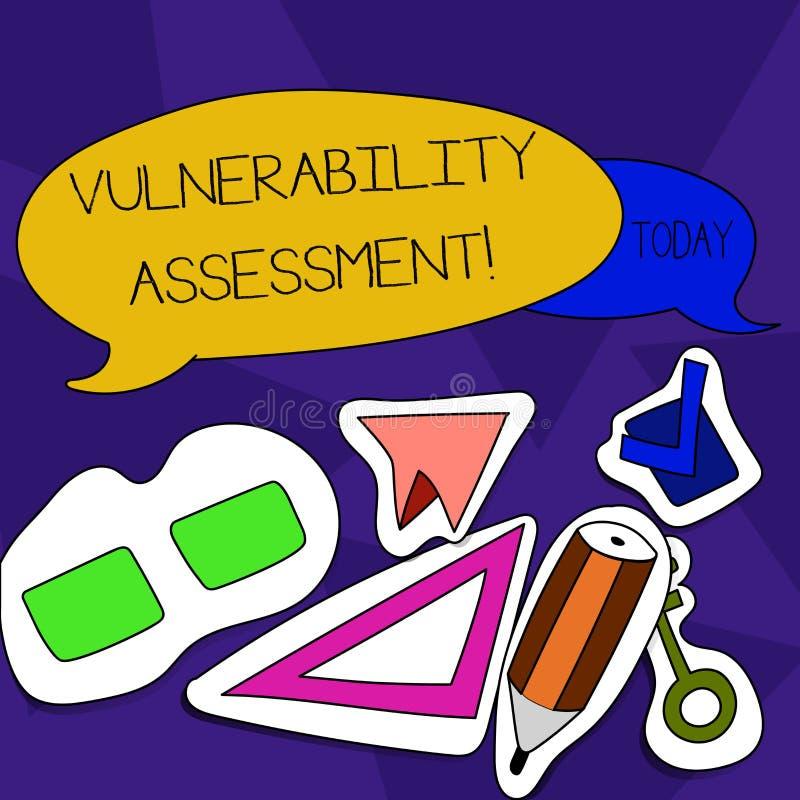 写文本弱点评估的词 定义的辨认给予优先弱点两企业概念 库存例证
