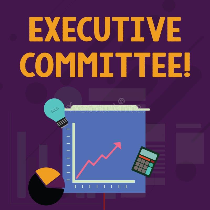 写文本执行委员会的词 小组的企业概念主任任命有当局在决定 皇族释放例证