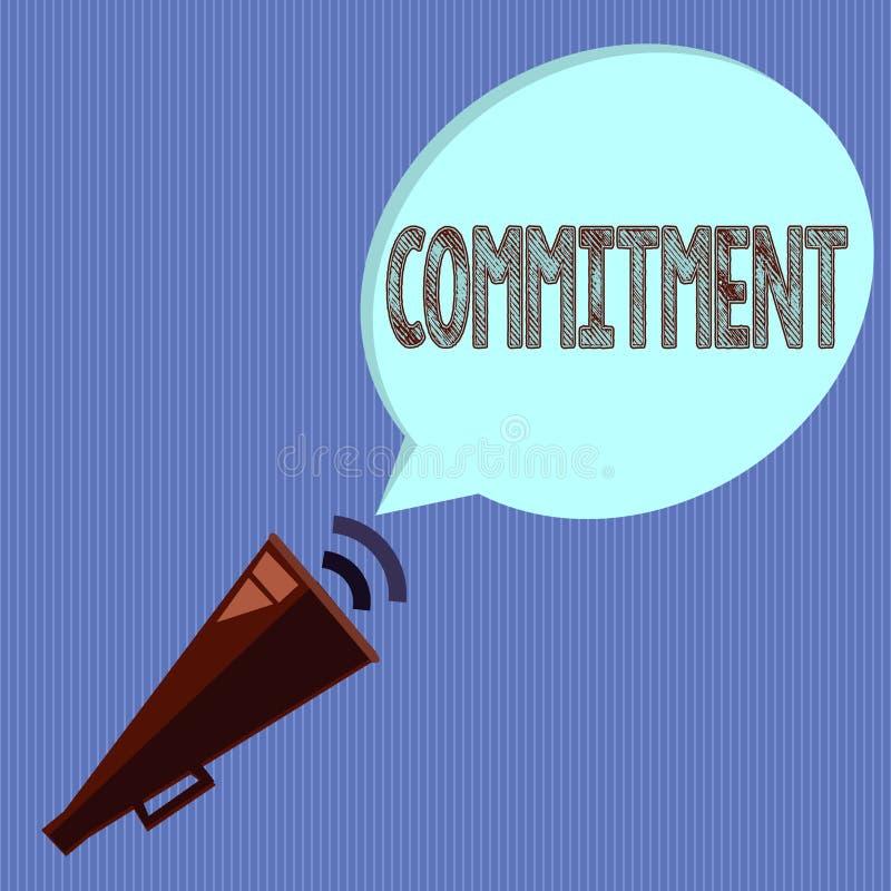 写文本承诺的词 质量的企业概念是热忱的导致活动订婚 库存例证