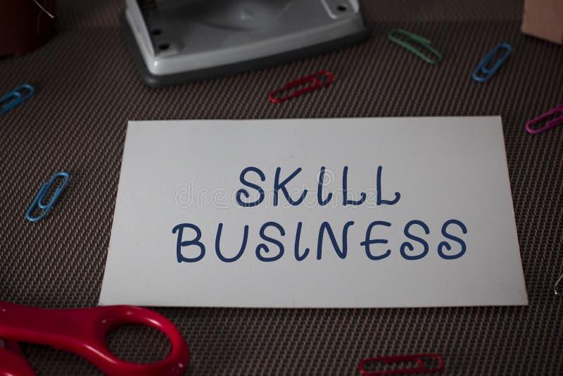 写文本技巧事务的词 能力的企业概念能处理商业投机智力专门技术 库存图片
