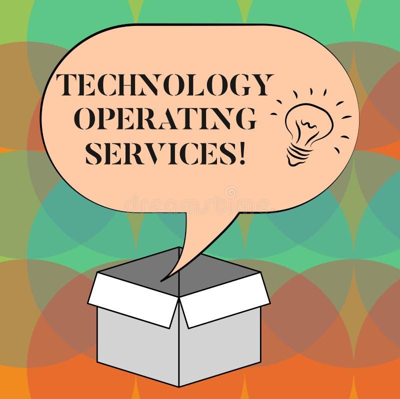 写文本技术运行的服务的词 提议专业技术导向的结果想法的企业概念 库存例证