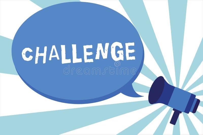 写文本挑战的词 电话的企业概念对参加的某人竞争情况敲打扩音机做  向量例证