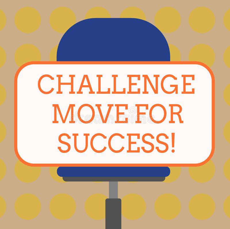 写文本挑战移动的词为成功 专业运动战略的企业概念能成功空白 皇族释放例证